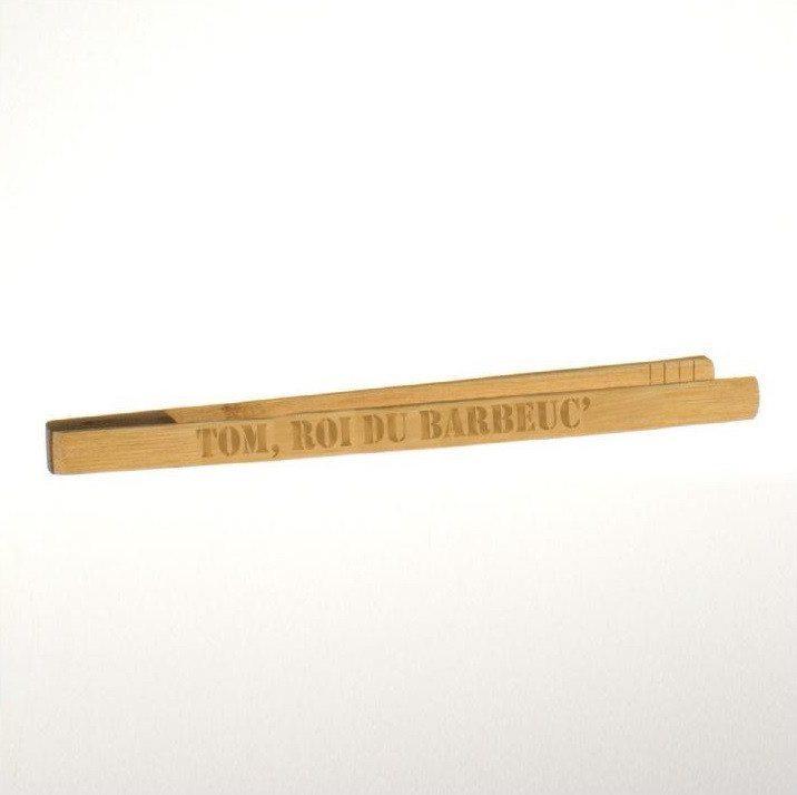 Bambus-Grillzange mit Gravur