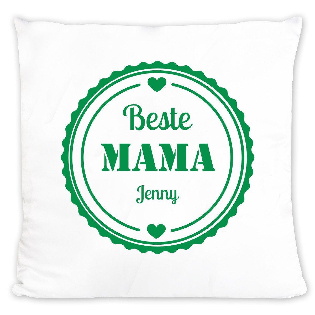 """""""Beste Mama"""": Persönliches Kissen bedrucken"""