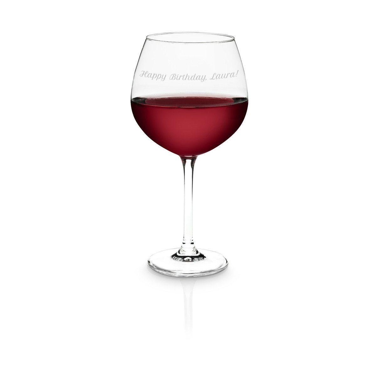 Bicchiere da vino rosso personalizzabile