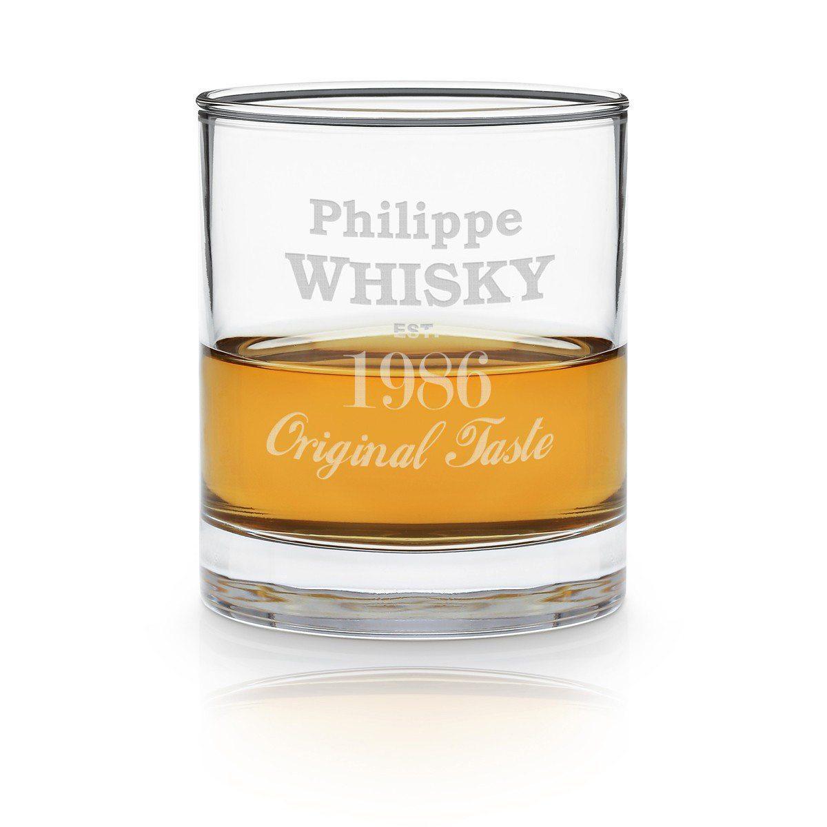 Bicchiere da Whisky con incisione