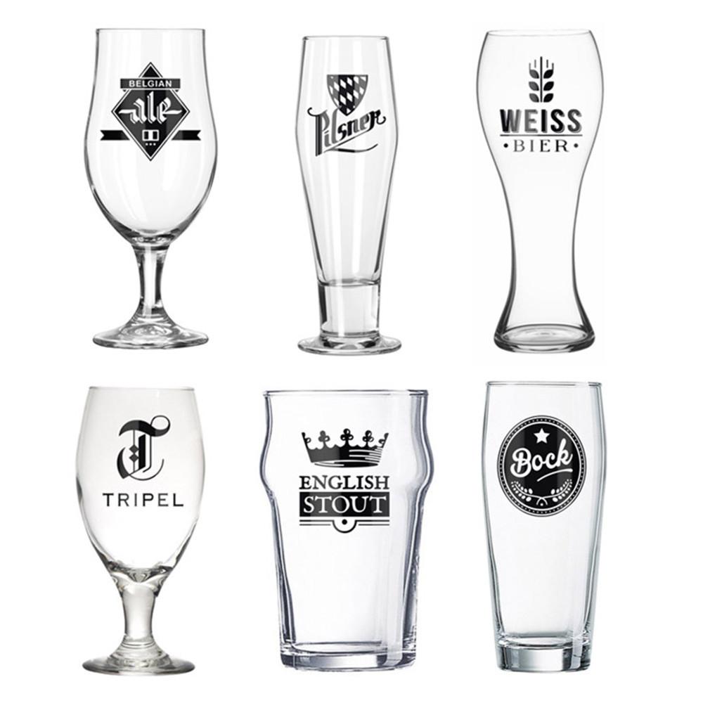 Bier der Welt: 6 Gläser im Set