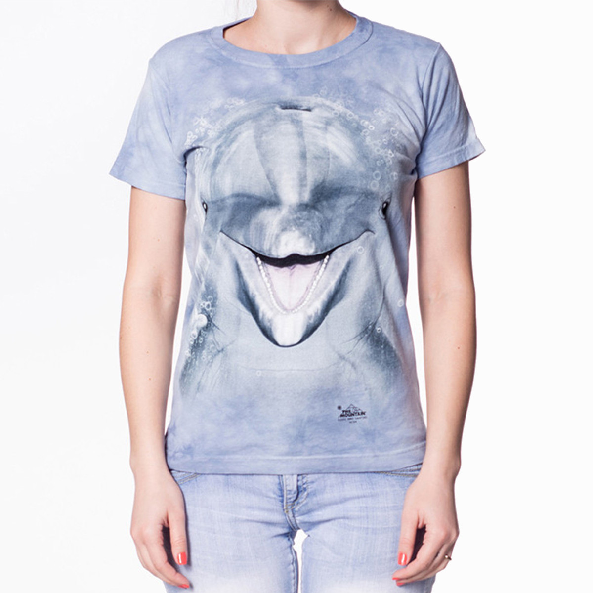Big Face Damen-T-Shirt – Delfin