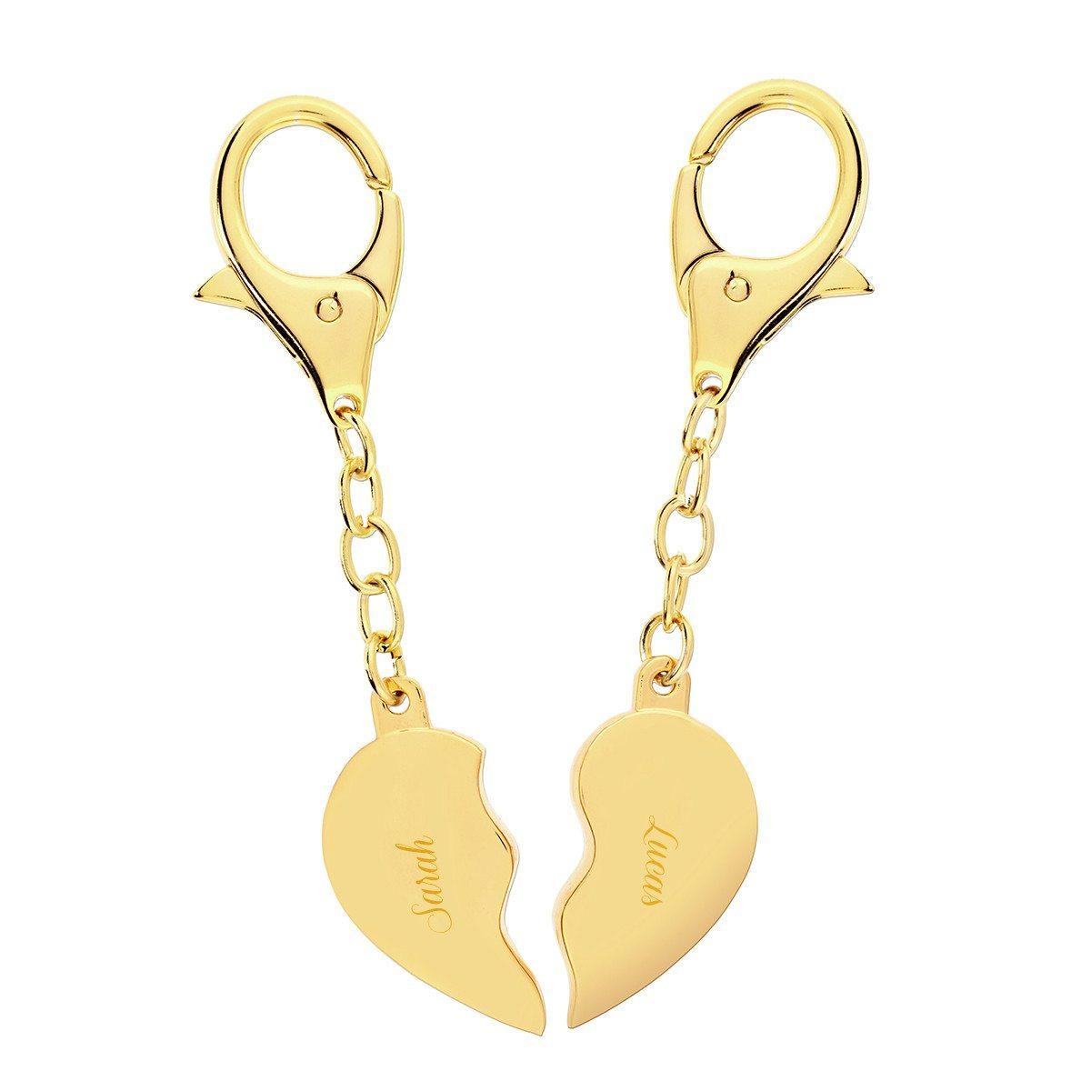 Broken Heart – Schlüsselanhänger golden