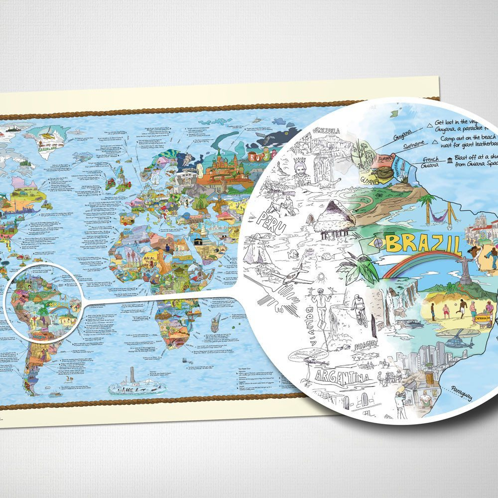 Die Weltkarte für Surfer