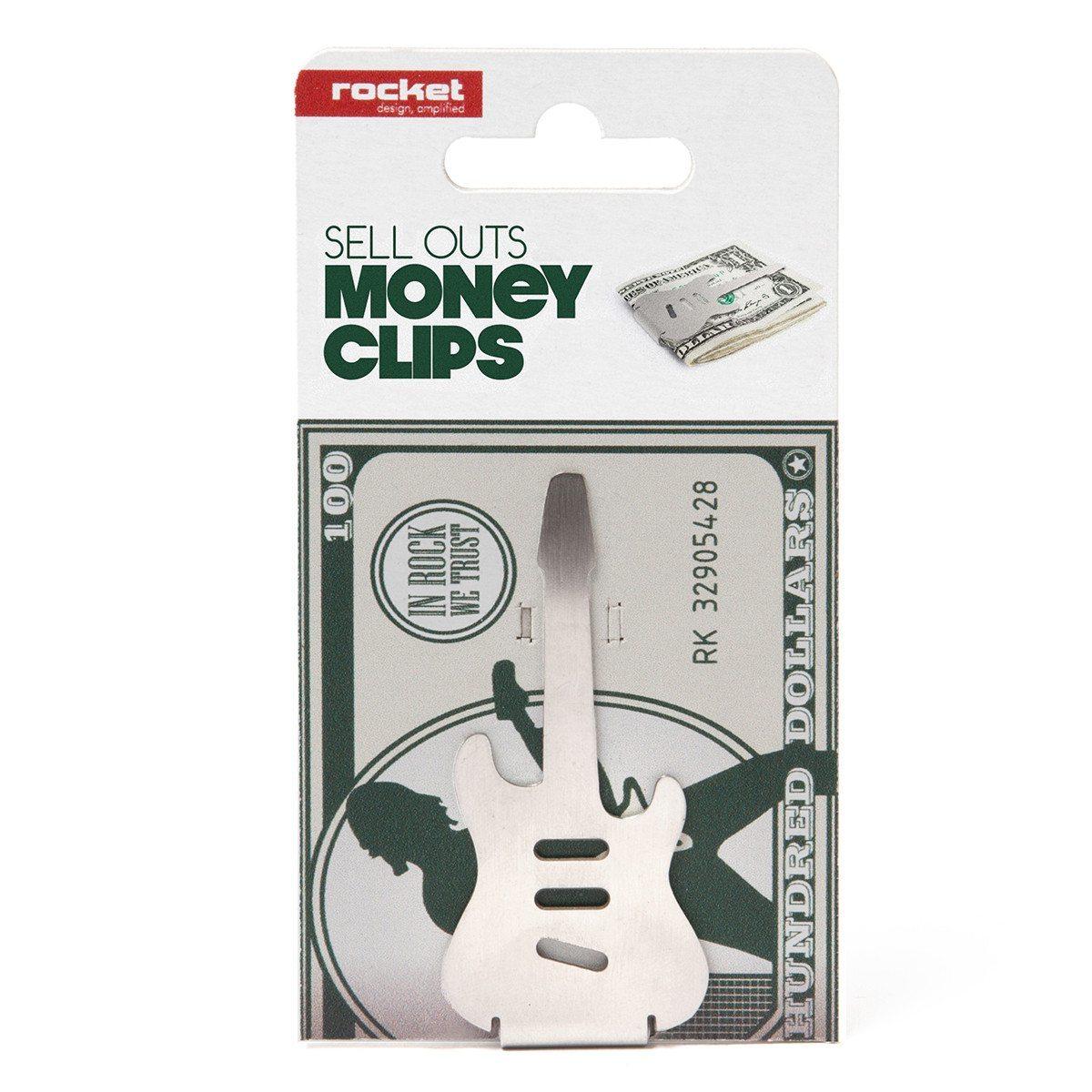 """Geldklammer """"Gitarre"""" mit Gravur"""