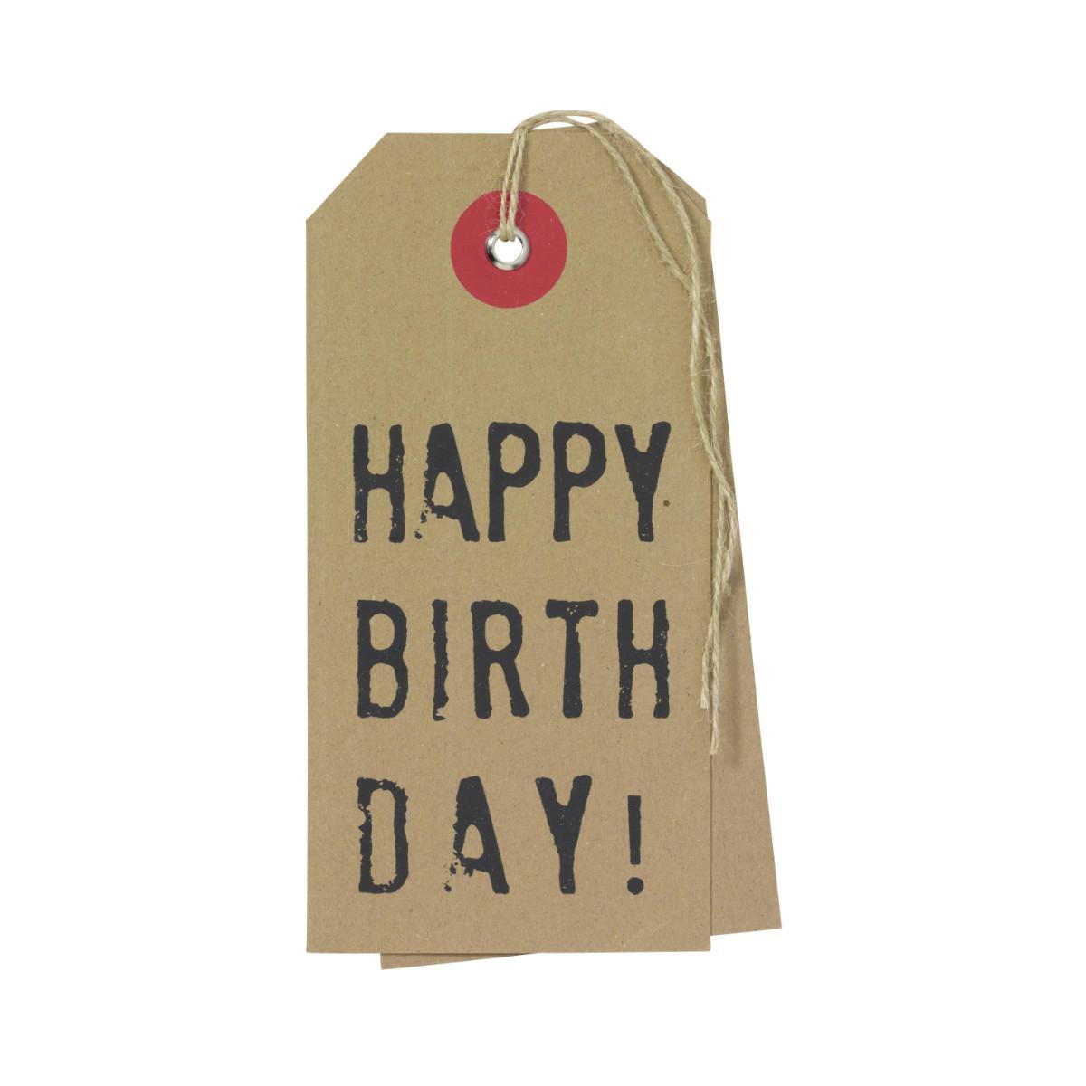 """Geschenkkärtchen """"Happy Birthday"""""""