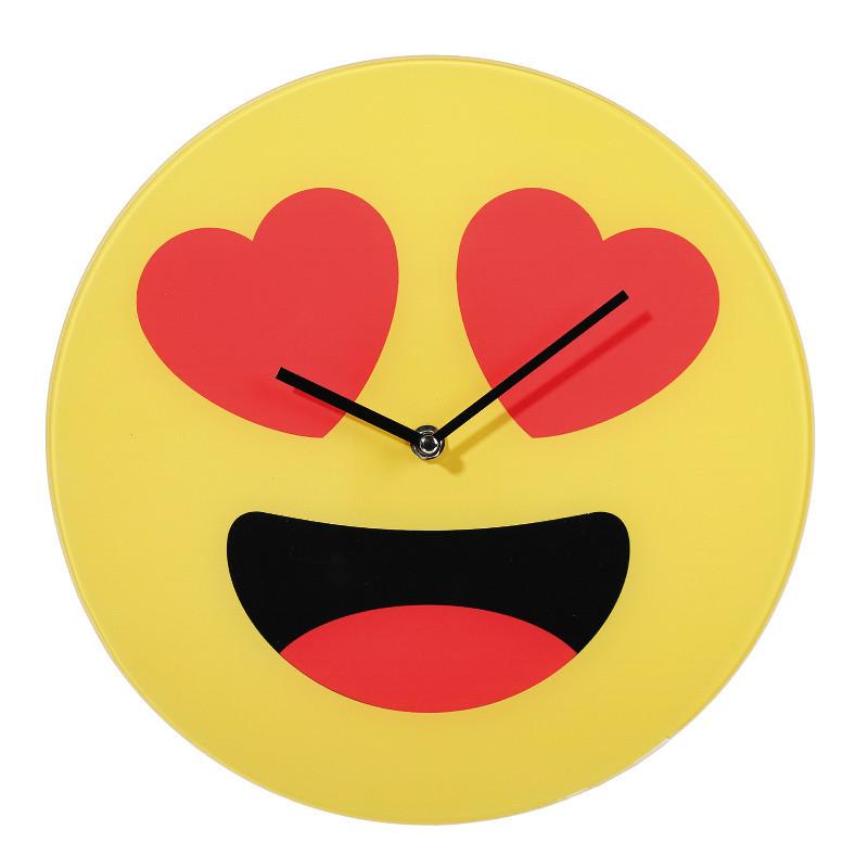 Glas Wanduhr Emoji
