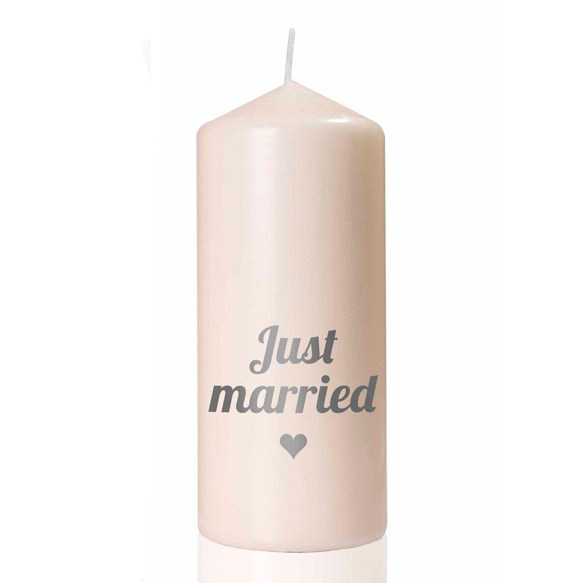 "Hochzeitskerze ""Just married"""