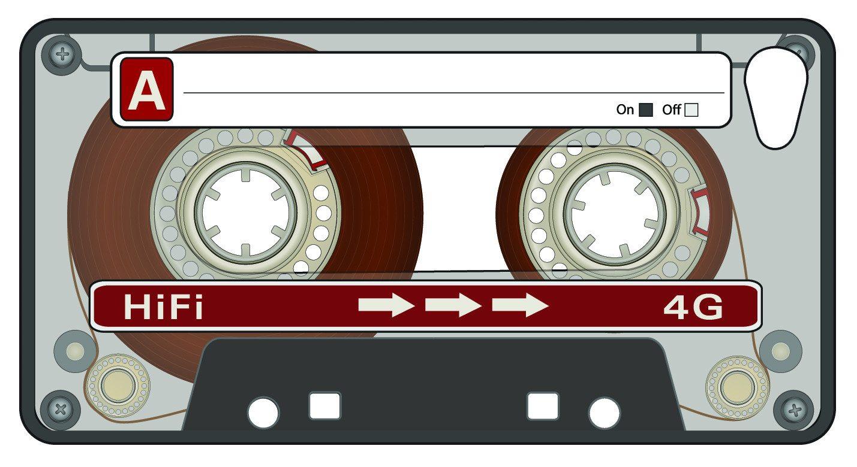 iPhone 4 Hülle Retro- Kassette mit Lenticular 3D Effekt