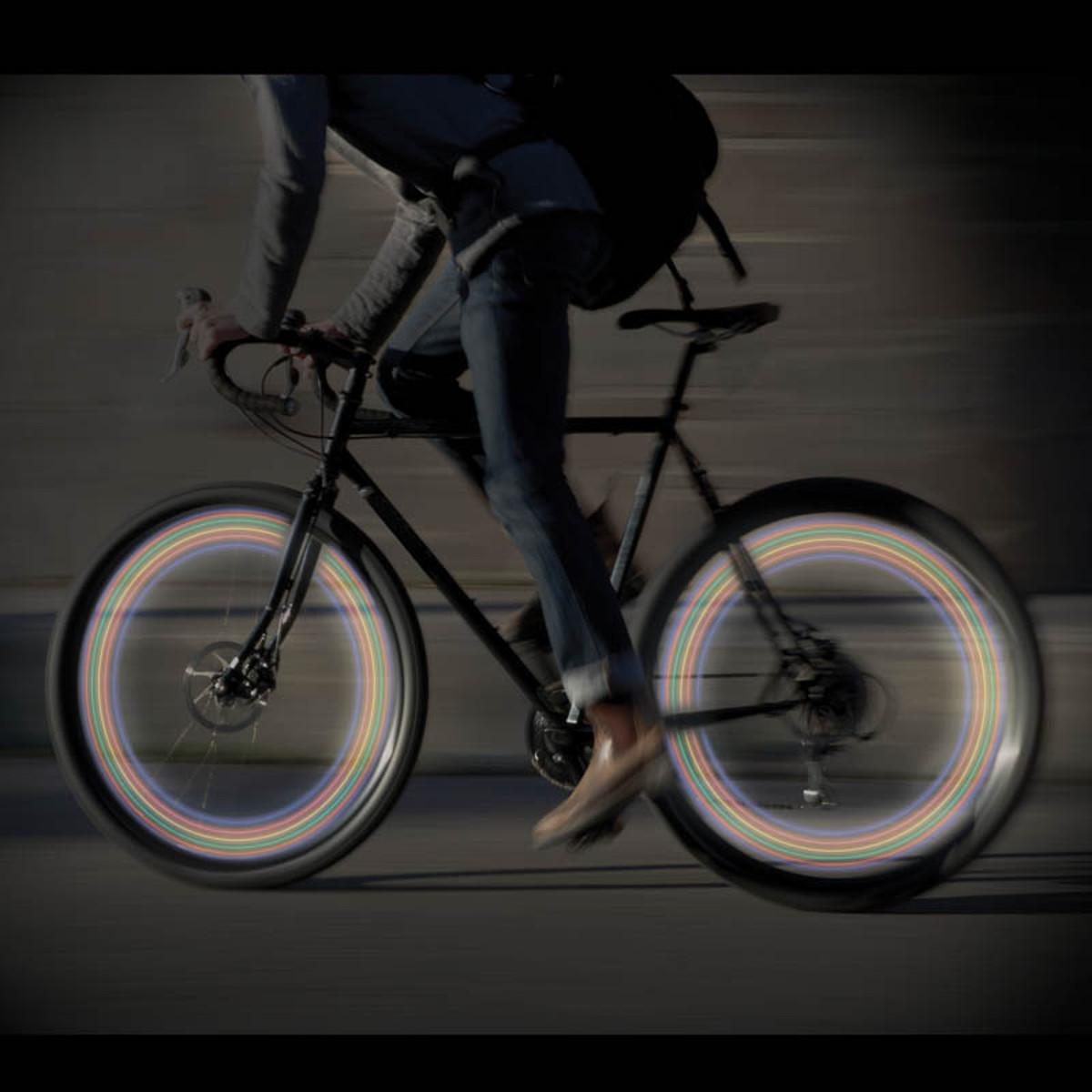 LED-Speichenlicht fürs Fahrrad