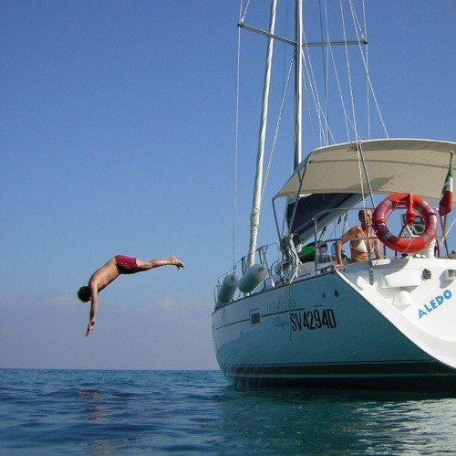 Lezione di vela con barca di 13 metri – Finale Ligure