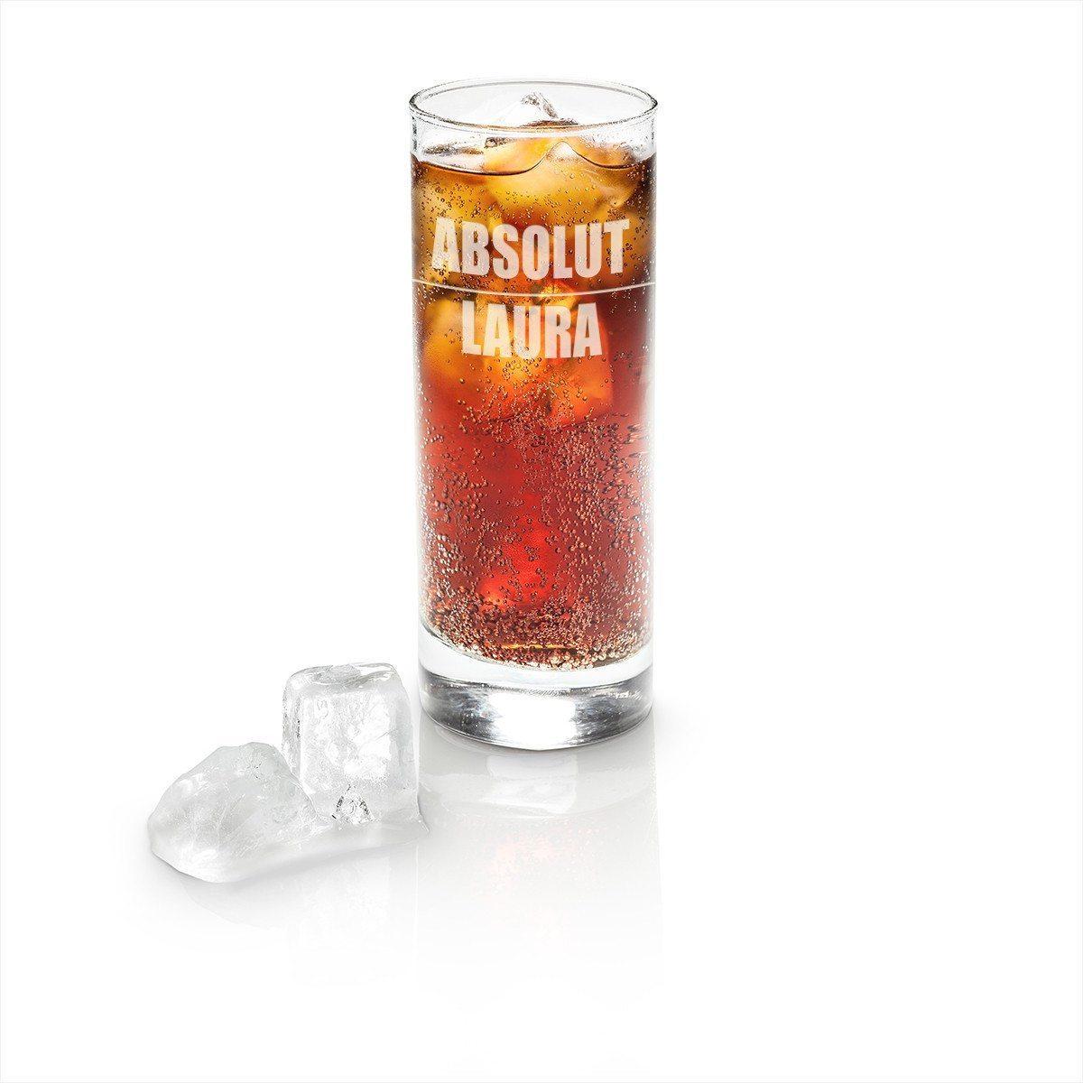 Longdrink Glas mit Gravur - Absolut