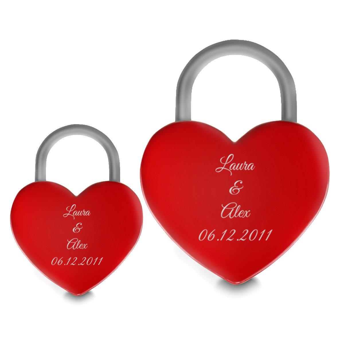 """lucchetto """"cuore rosso"""" personalizzabile"""