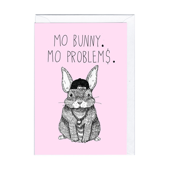 "Lustige Karte ""Mo' Bunny ..."""