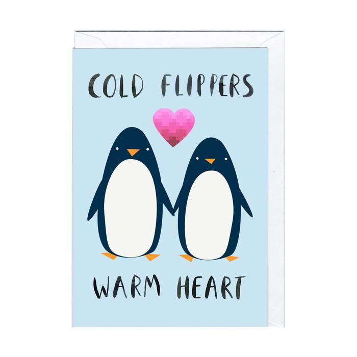 Lustige Karte Penguin Love