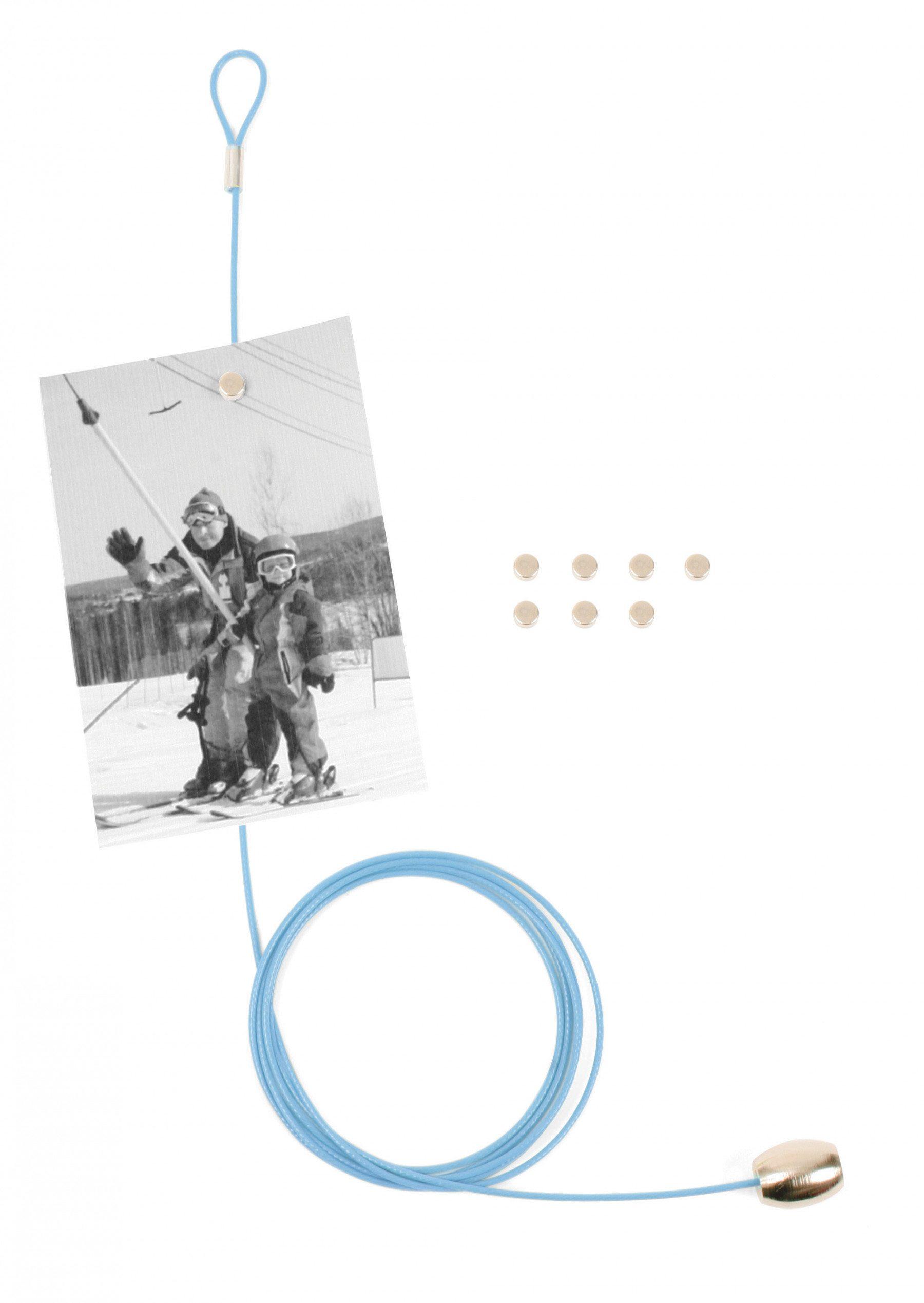 Magnetischer Fotohalter für 8 Bilder blau
