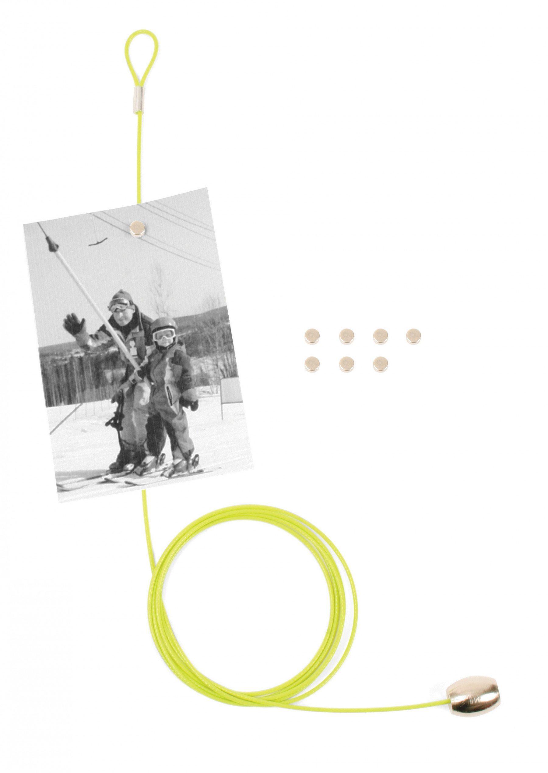 Magnetischer Fotohalter für 8 Bilder hellgrün