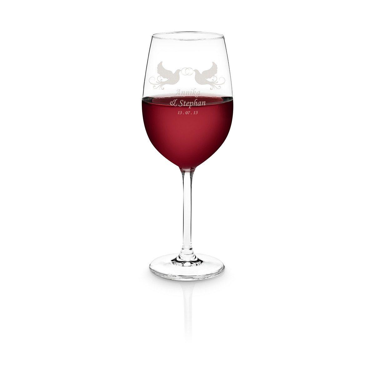 Personalisierbares Rotweinglas von Schott Zwiesel - Tauben