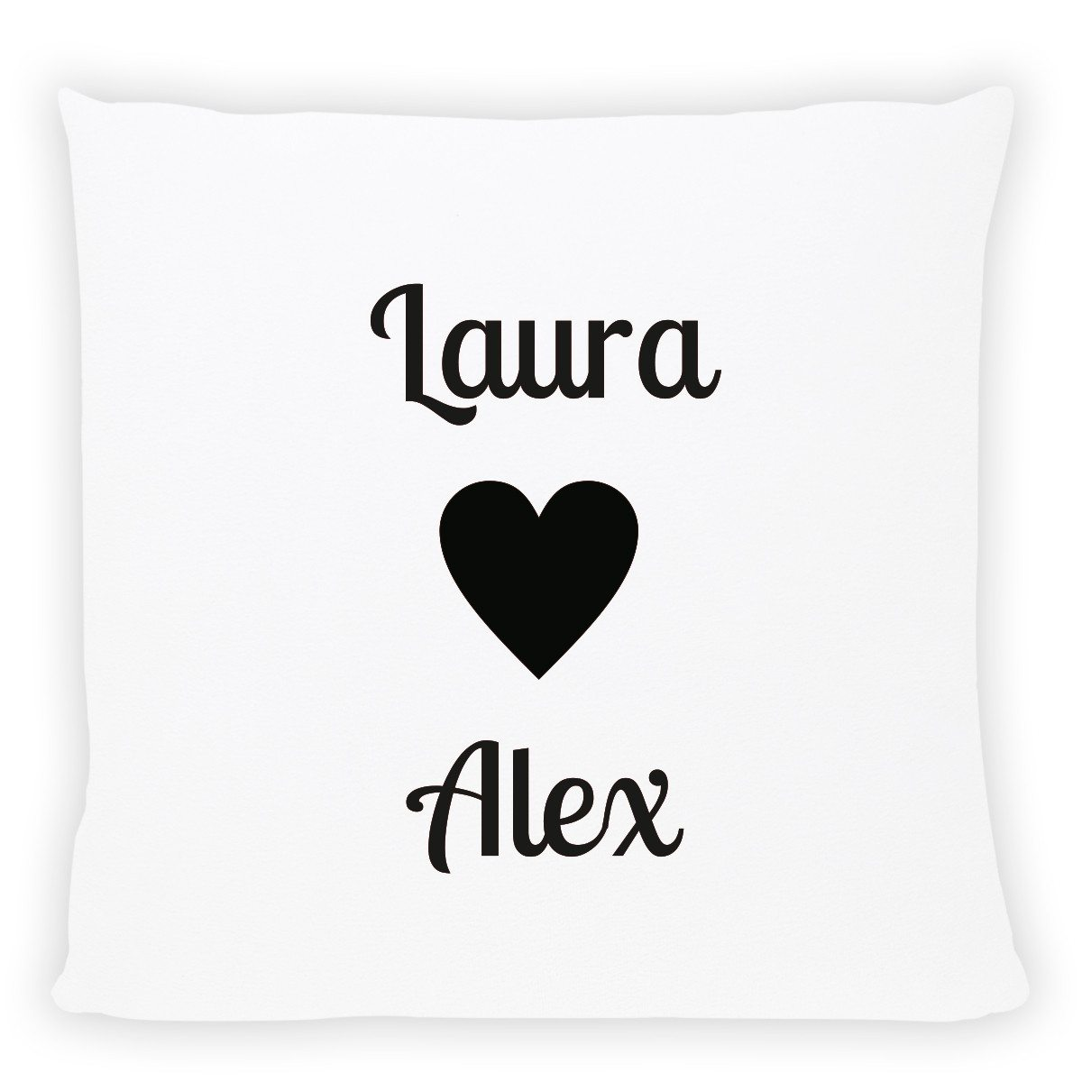 personalized pillow with names black