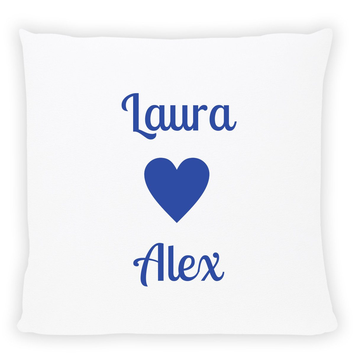 personalized pillow with names blue