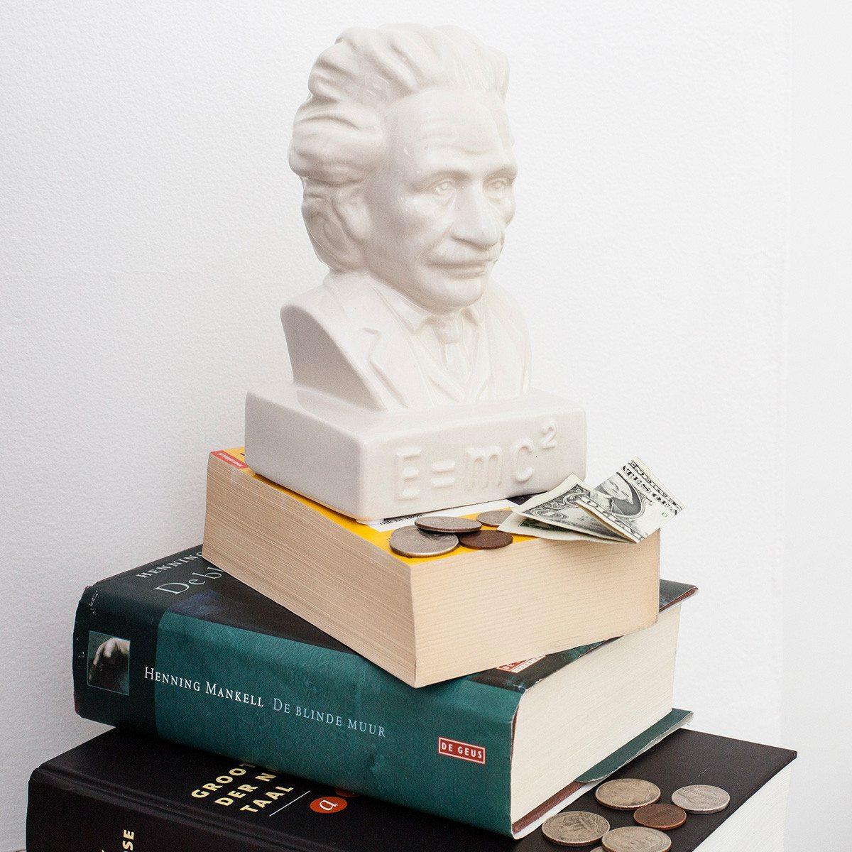 Spardose Einstein E = mc²