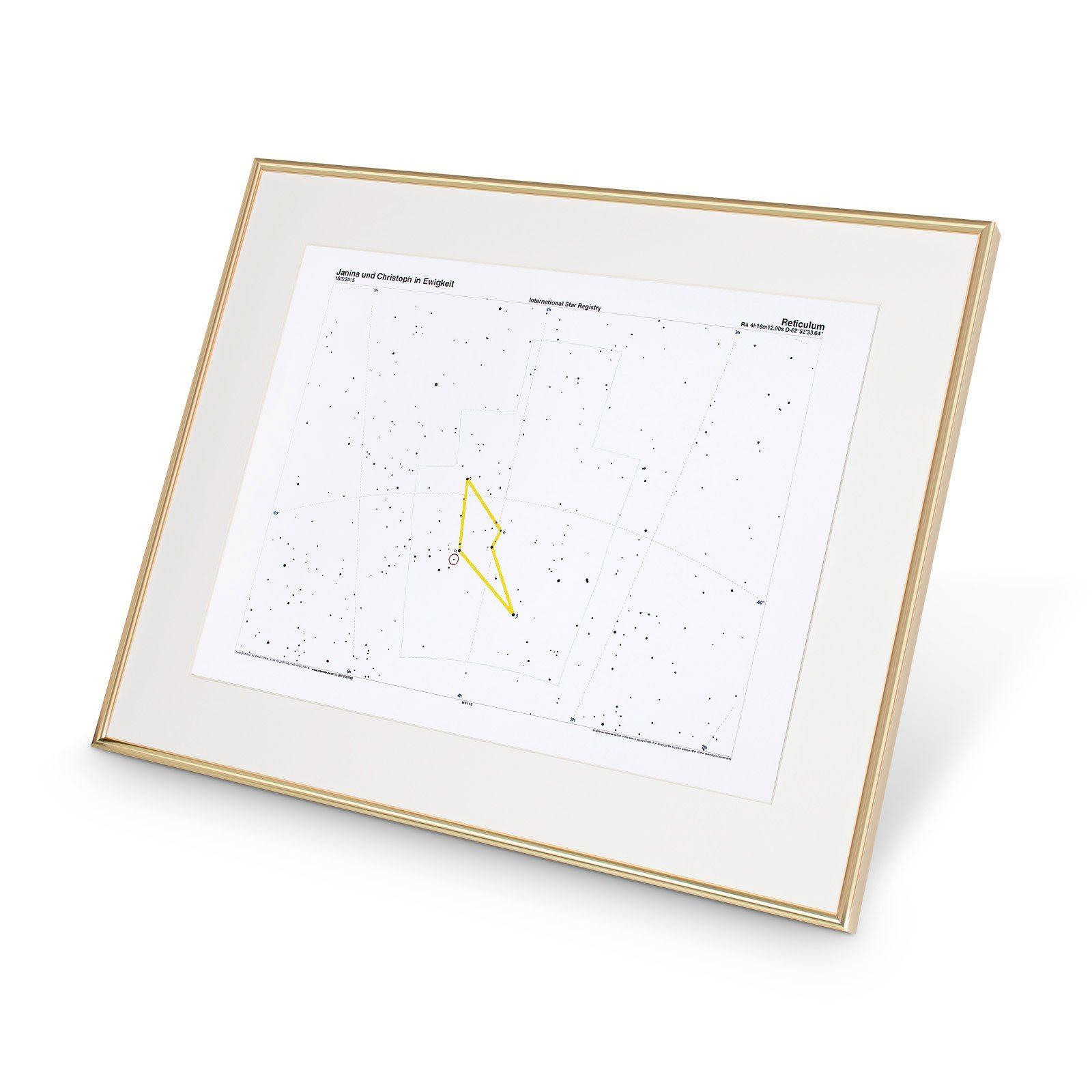 Sternkarte mit Rahmen