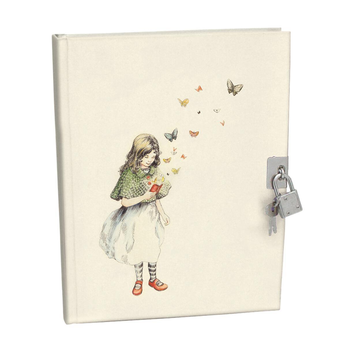 Tagesbuch für Mädchen mit Schloss