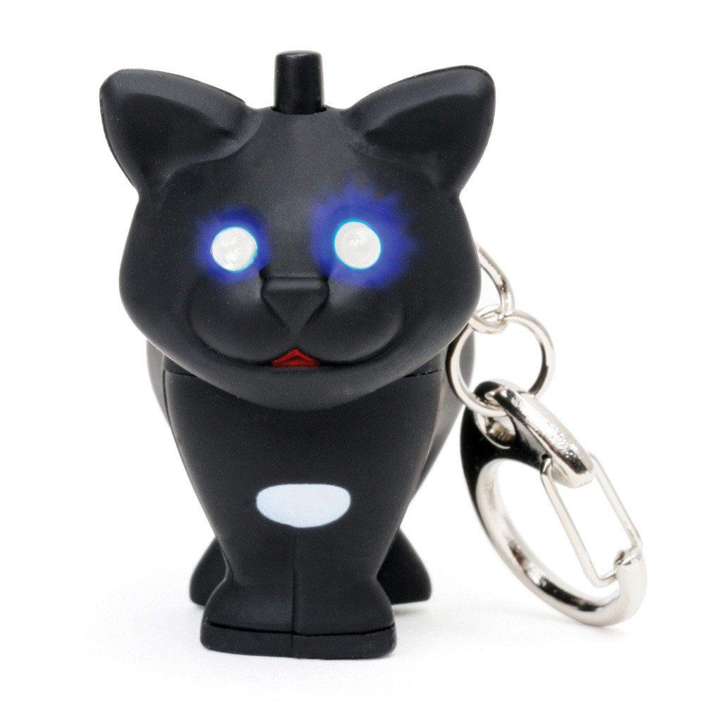 Tierische LED Schlüsselanhänger Katze