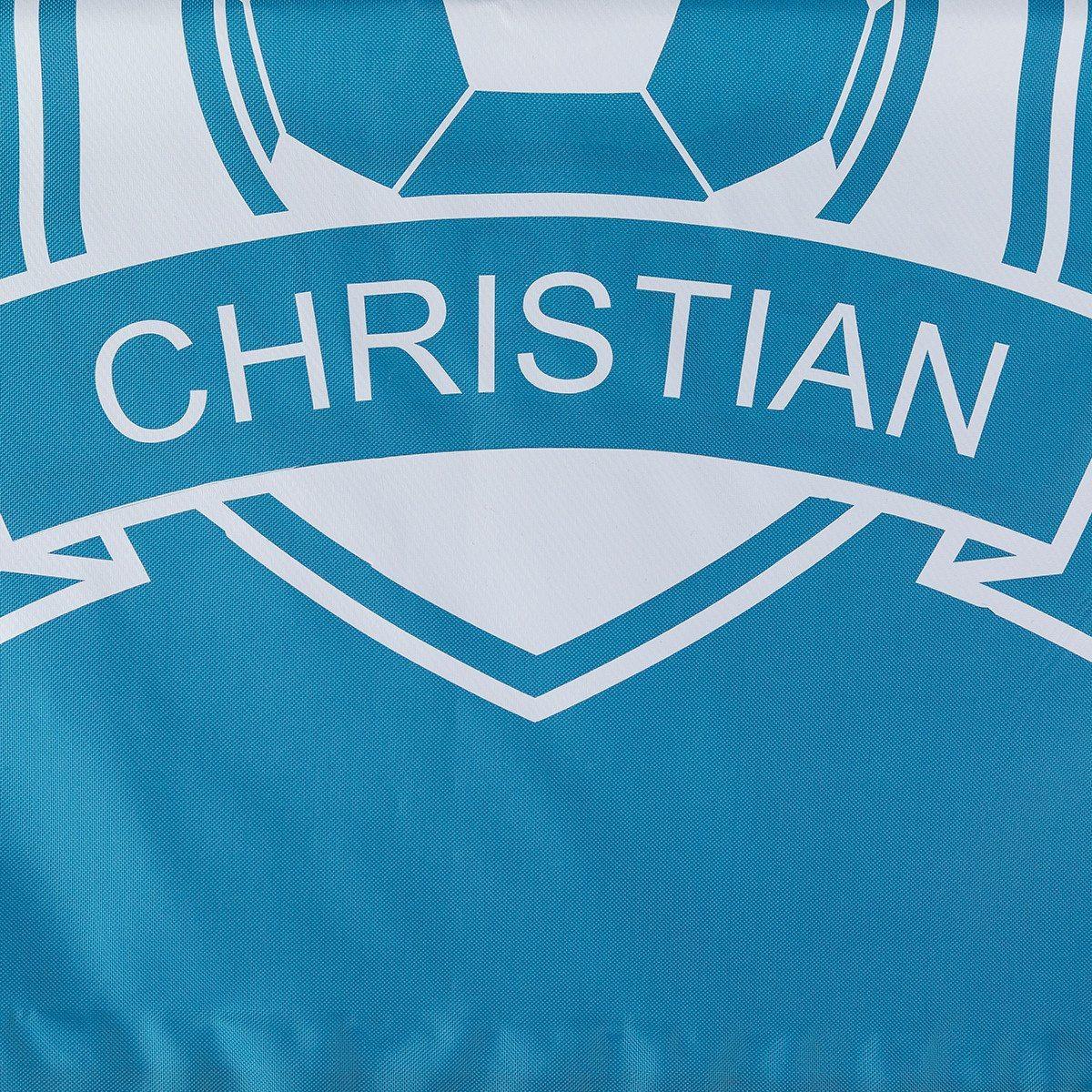 Turnbeutel bedrucken: Fußball & Name
