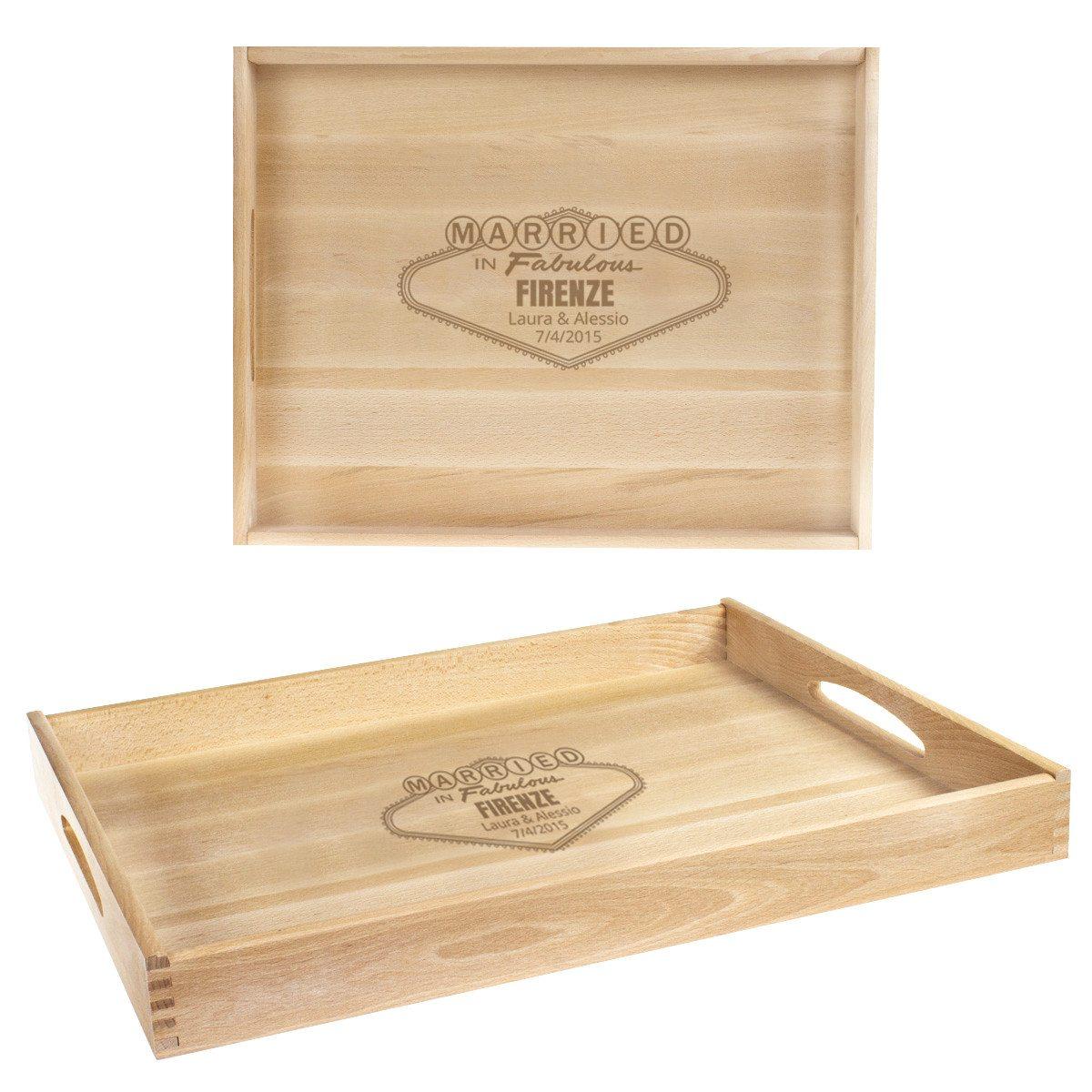 Vassoio in legno personalizzabile