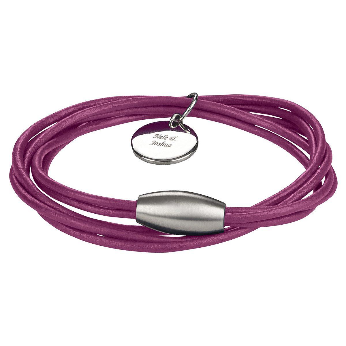 Ziegenleder-Armband mit Gravur