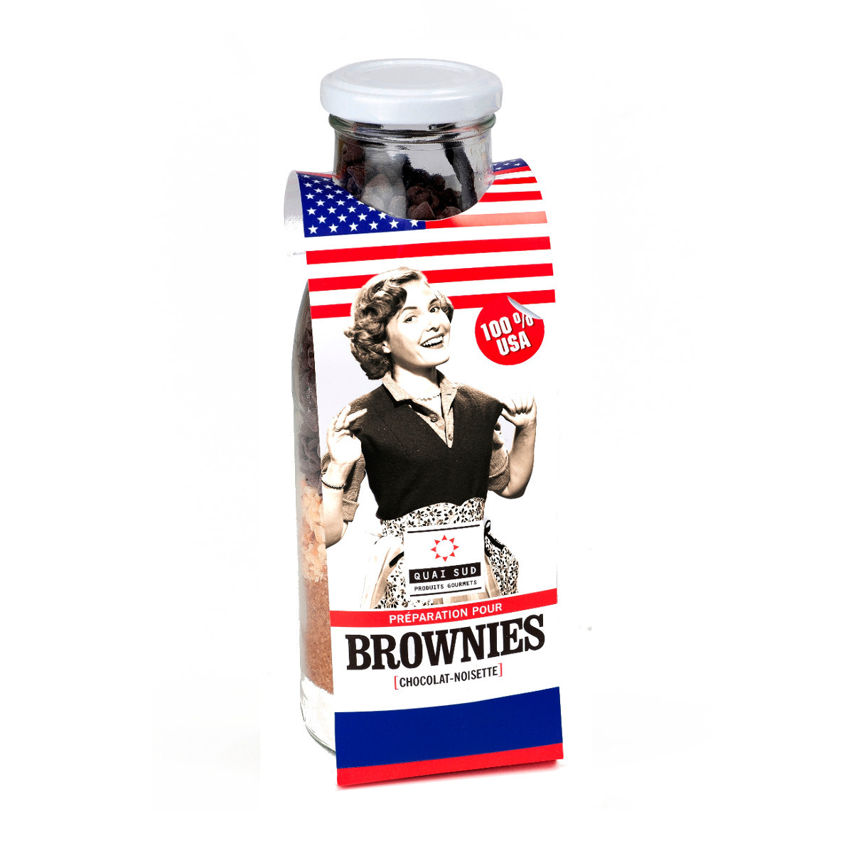 American Brownies – Backmischung im Glas