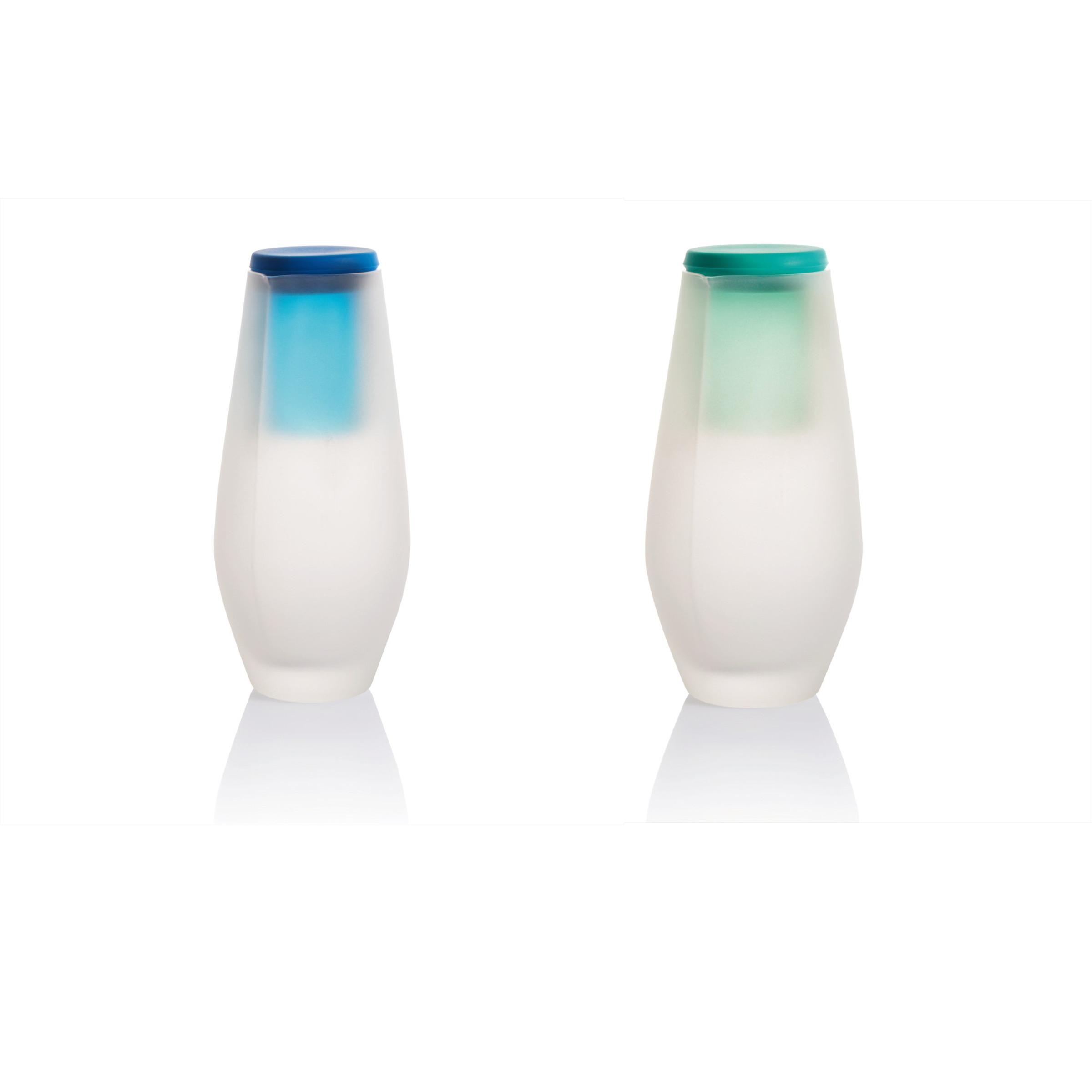 Design-Karaffe mit Trinkglas