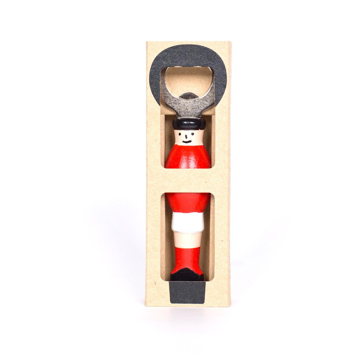 Flaschenöffner - Kicker in Rot & Weiß