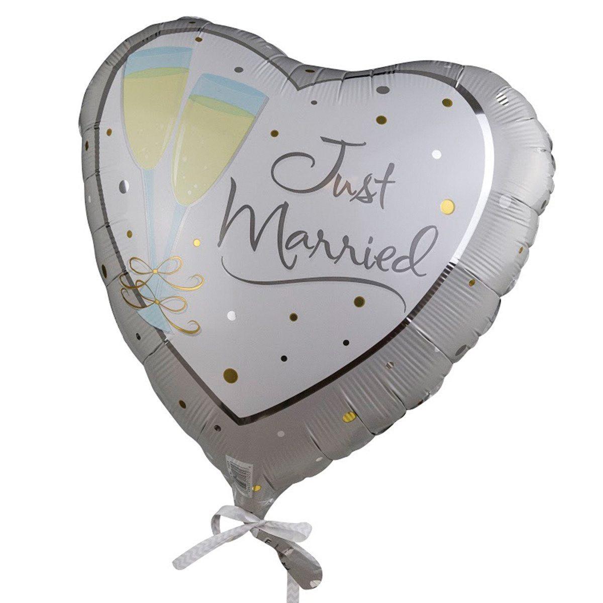 """Helium-Luftballon """"Just Married"""" (Sekt)"""
