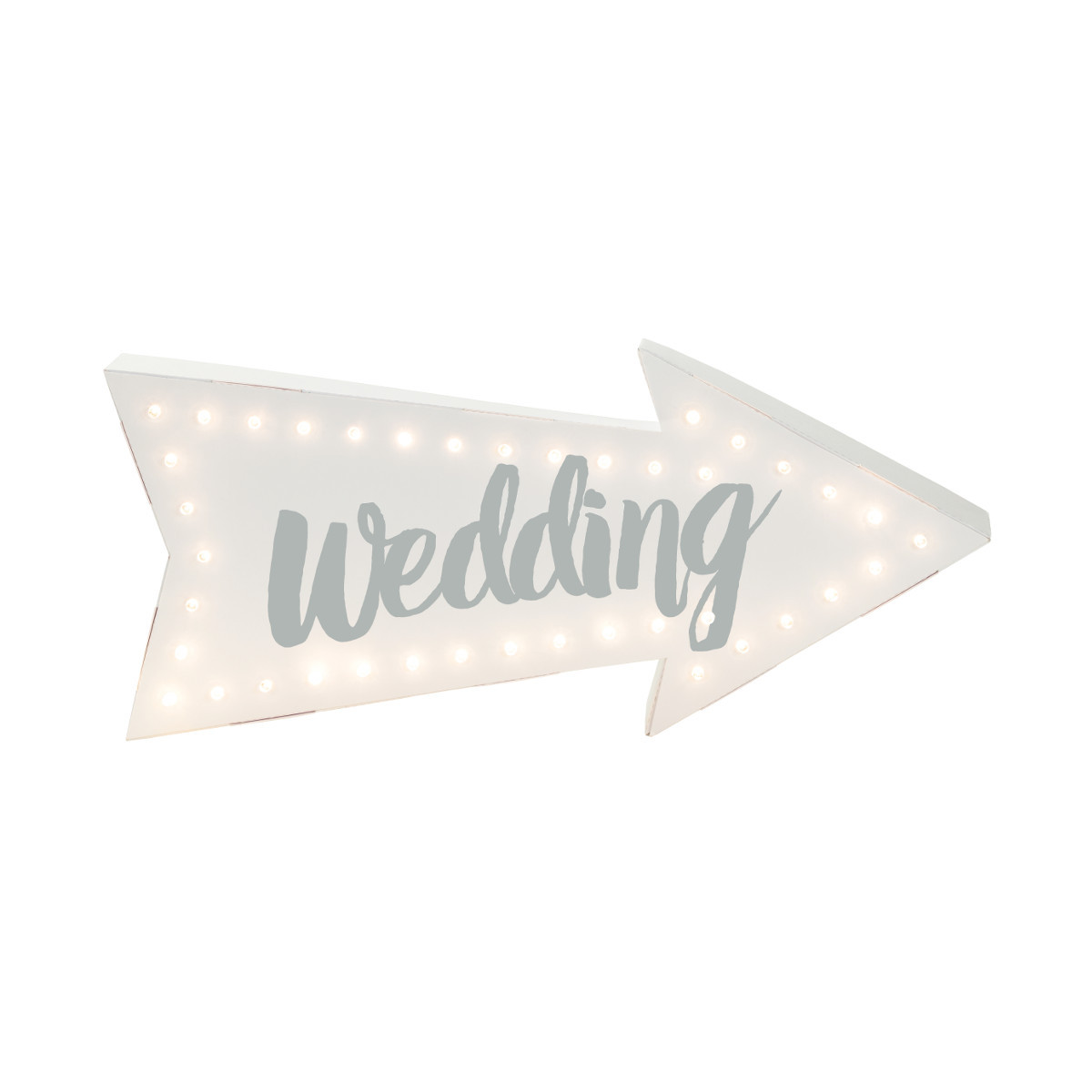 """LED-Schild """"Wedding"""""""