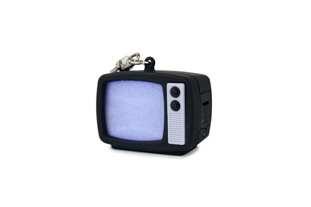 LED Schlüsselanhänger Retro-TV verpackt