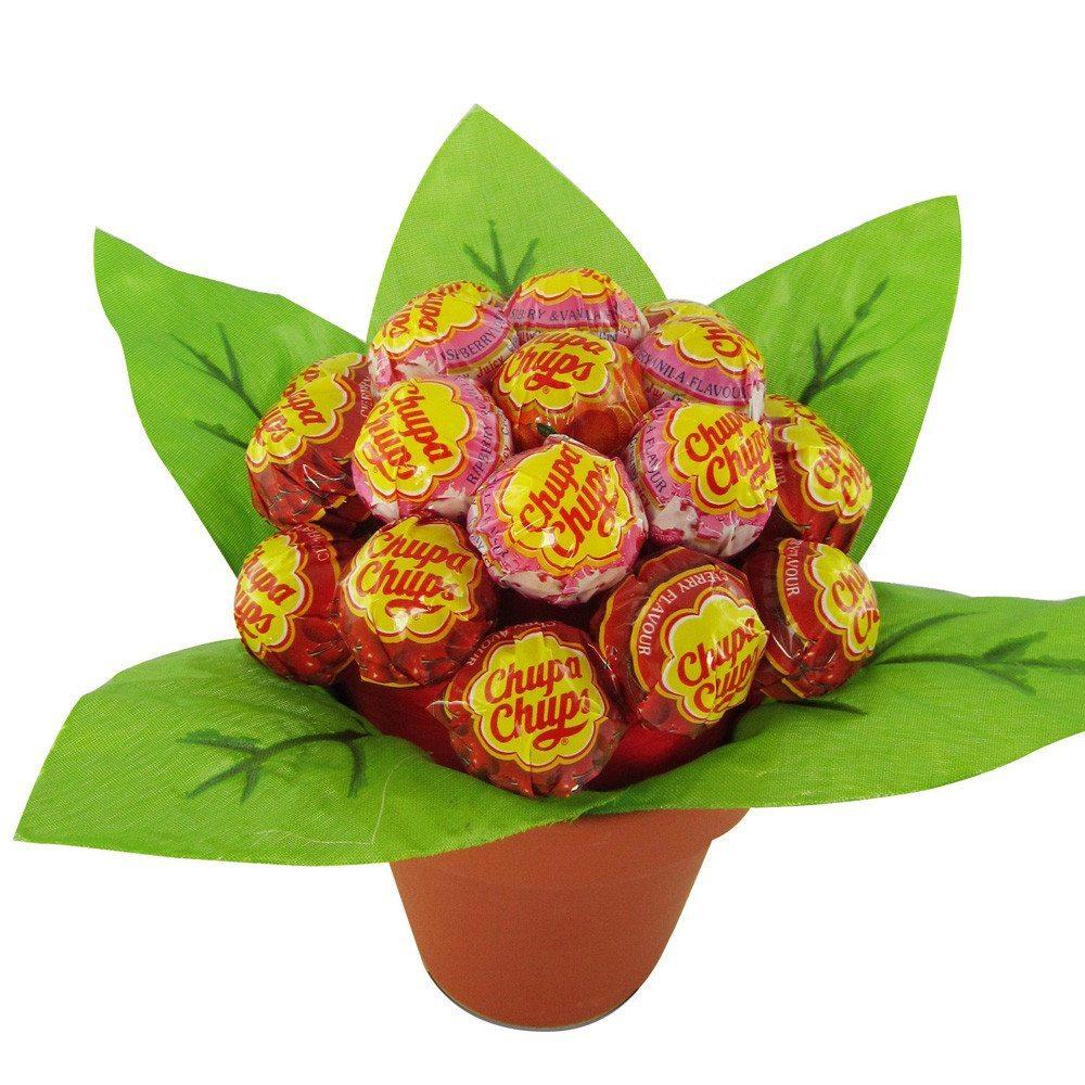 Lolli Blume - Grün-Rot
