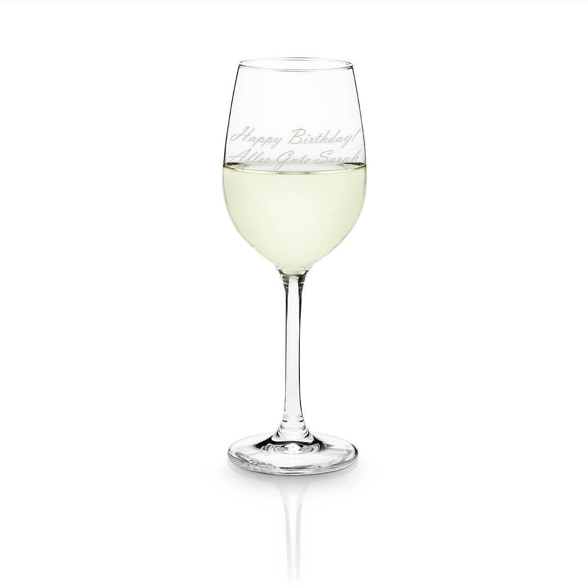 Personalisierbares Weißweinglas von Leonardo - Glückwunsch