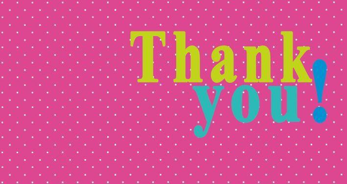 Biglietto di ringraziamento – Thank you