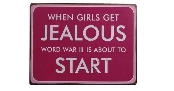 Targa in metallo - Ragazzi e ragazze gelosi