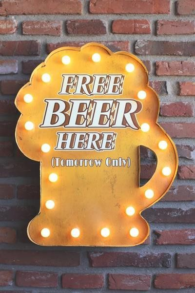 Insegna luminosa - Free Beer Here