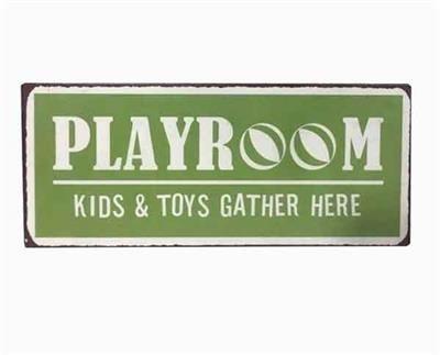 Targa in metallo - Playroom