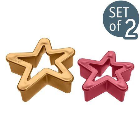 Set 2 stampi per biscotti - Stelle