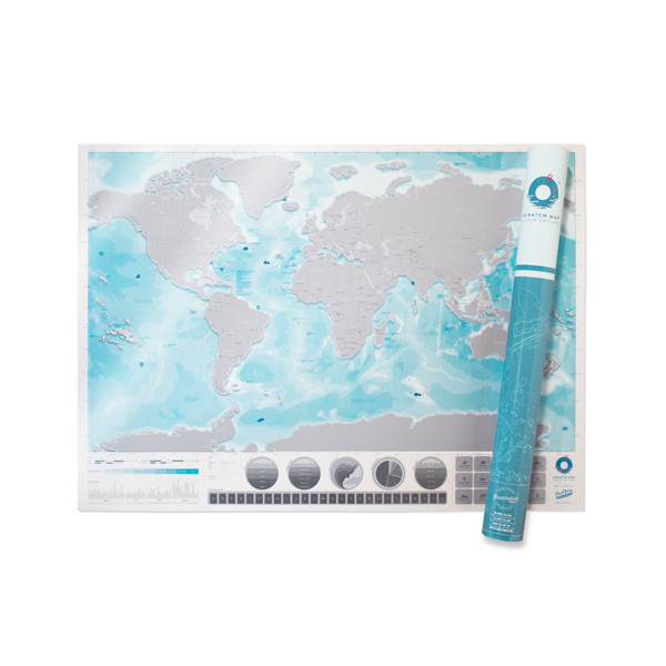 """Rubbel-Weltkarte """"Ozeane"""""""