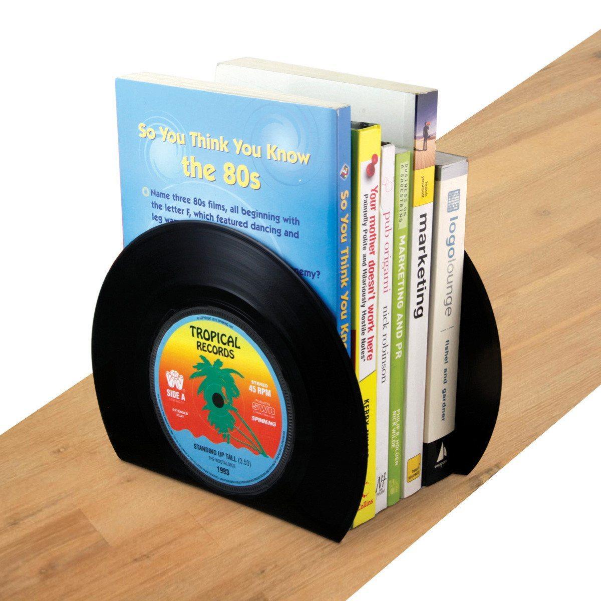 Schallplatten Buchstützen
