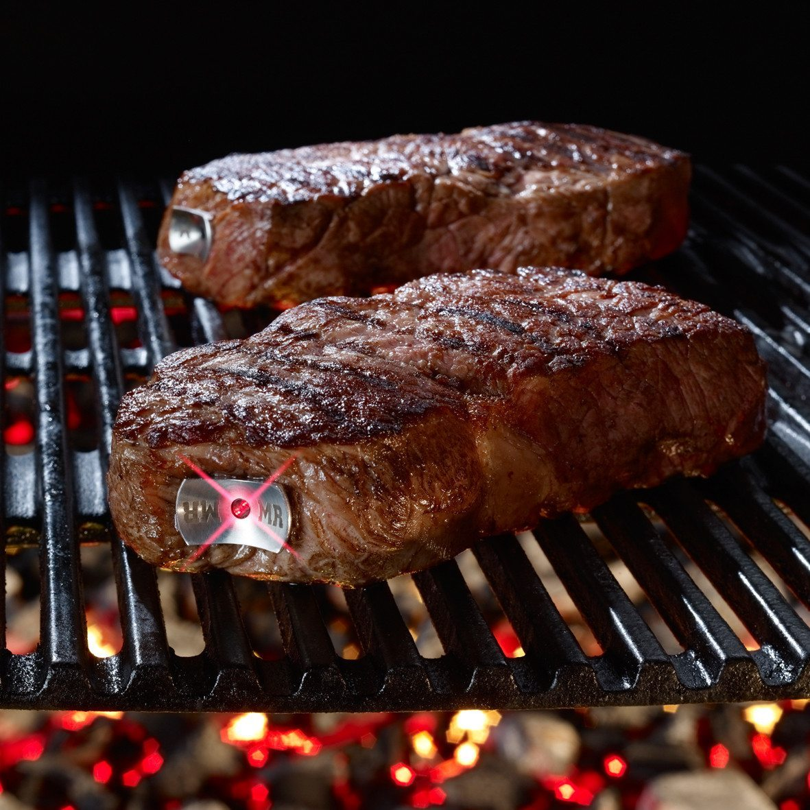 SteakChamp Fleischthermometer 2er-Pack, medium + medium rare