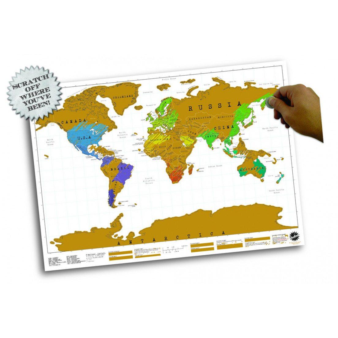 Cartina Geografica Scratch Map.Poster Scratch Map Carta Geografica Da Grattare Smyla It