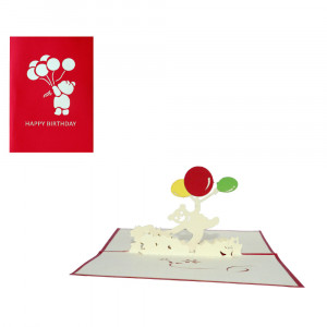 3D-Geburtstagskarte mit Pop-up-Bärchen