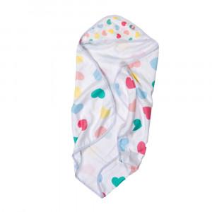 Badecape mit Kapuze für Babys
